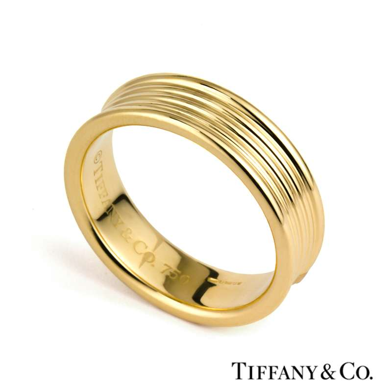 Tiffany & Co. 18k Yellow Gold Wedding Band Turned Design